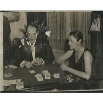 1931 Press Photo Amazing Card Josephine Battle Sidney New York City - RSC20979