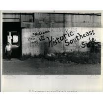 1985 Press Photo Neighborhood General View Southeast - RRX08483