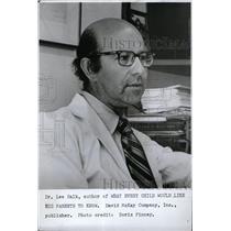 1972 Press Photo Author Childs Wants Parents Book Salk - RRW71363