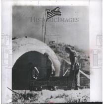 1950 Press Photo American Flag Flying Over Pohang, Kore- RSA20063