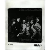1981 Press Photo Le Roux Pop Rock Band RCA Records - RRW09597