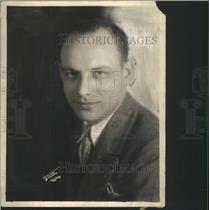 1930 Press Photo Art Lirrick KYW WBBM Radio Personality Air Theatre Chicago