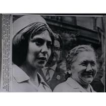 1964 Press Photo Helle Virkmar Krag Actress Danish wife - RRX24335