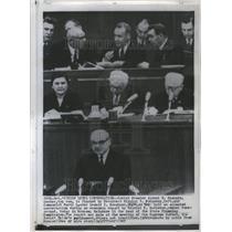 1967 Press Photo A Kosygin N Podgorny L Brezhnev Russia - RRU05733