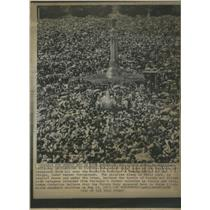 1917 Press Photo Religious Portugal crowd Virgin meet- RSA14353
