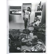 1971 Press Photo Richard Washington Milwaukee Bucks - RRU05121
