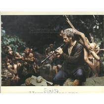 1986 Press Photo Jeremy Irons Clarinet Mission movie - RRY20357