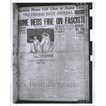 1922 Press Photo Chicago Daily Journal Newspaper Rome - RRV56105