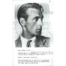 1930 Press Photo Actor Gary Cooper- RSA09009