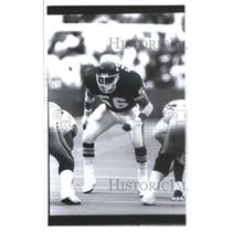 1991 Press Photo DINO HACKETT AMERICAN FOOTBALL LINEBACKER CHIEFS - RSC26433