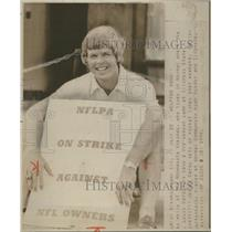 1974 Press Photo Luke Wells of the Minnesota Vikings. - RSC28121