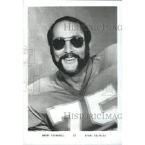 1975 Press Photo Manny Fernandez Miami Dolphins - RSC26095