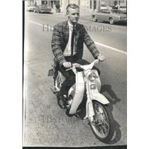 1965 Press Photo Clean Jeans Motorcycle Member - RRU81989