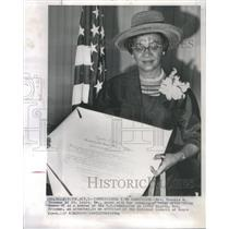 1964 Press Photo Mrs. Frankie M. Freeman St. Louis Mo US Commission on Civil