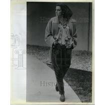 1985 Press Photo Fall fashion woman Jenny Byblos velvet - RRX35965