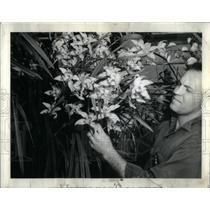 1974 Press Photo Ernest Finley Hausermann Orchids - RRX17683