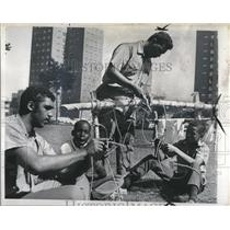 1968 Press Photo Inner City Detroit Boy Scouts Tie Knot - RRV03345