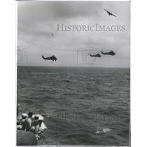 1961 Press Photo Helicopters/Sonar Buoys/US Navy- RSA14751