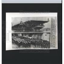 1951 Press Photo Essex Class Aircraft Carrier Antietam - RRX98997