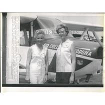 Press Photo Female Pilots Doris Bailey And Helen Hedges- RSA05839
