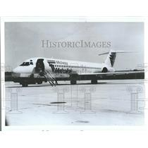 1984 Press Photo Midway Airlines Metrolink- RSA06683
