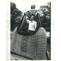 1985 Press Photo International Hot Air Balloon Championship Comp. Alan Blount