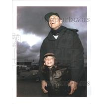 press photo Jessica Dubroff and her father Lloyd stand on the runway in Half Mn