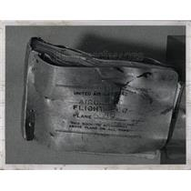 1956 Press Photo The Battered Log Of Ill-fated Plane- RSA01895