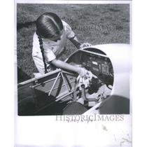 1962 Press Photo Jeanette Kuhn II instrument panel Dad- RSA19845