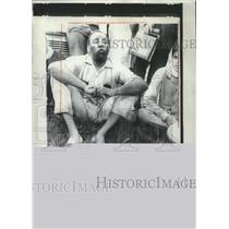1967 Press Photo Mississippi Marcher James Meredith Sighs with relief