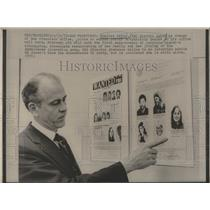 1975 Press Photo Charles Bates, FBI Special Agent in San Francisco Office