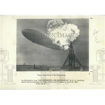 1982 Press Photo Fiery Destruction Of The Drigible Hindenburg - XXB09967