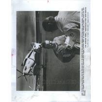 1977 Press Photo Jack Conroy airport Official flight - RRU73305