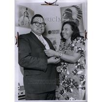 1971 Press Photo American Indian Assn Pres Senator Wife - RRU42893