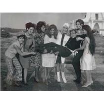 1965 Press Photo Ugo Tognazzi ,R Power,M Capparelli,M Buccella,M Swers,S Clemm