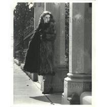 1979 Press Photo model in a Pat Iuto fox coat - RRW46663