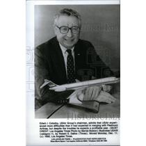 1989 Press Photo Edwin Colodny Group Chairman Airlines - RRX42585