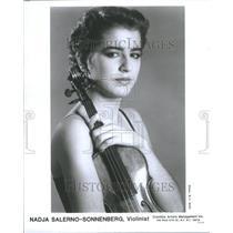 1990 Press Photo Violinist Nadja Salerno-Sonnenberg - RRU09165