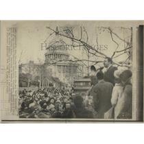 1971 Press Photo Ralph Abernathy Rally Designate Martin Luther King Holiday