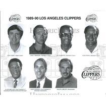 1989 Press Photo Los Angles Clippers Don Casey Dave Twadzik Joe Roberts