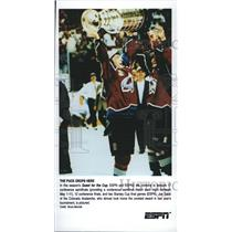 2000 Press Photo Stanley Cup Final Games Joe Sakic Colorado Avalanche ESPN