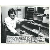 1976 Press Photo Seattle Seahawk Jim Zorn Quarterback - RSH35449