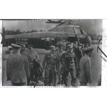 1958 Press Photo Frankfurt Communist Helicopter Germany - RRV58473