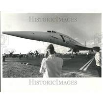1985 Press Photo Aircraft Association Convention SST - RRV59155