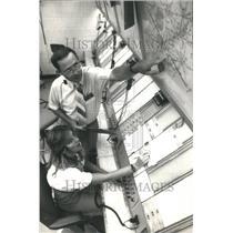 1987 Press Photo Air Traffic Controller - RRU80473