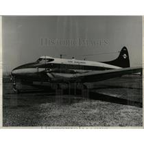 1959 Press Photo Passenger Airplane Tag Airline Detroit - RRW63447