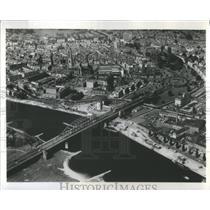 1977 Press Photo Germany Bridge Rhine Holland Tourist- RSA32099