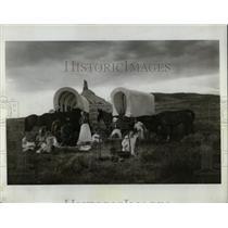 1983 Press Photo Wagon Train Re-Enactment Baynard - RRW66487