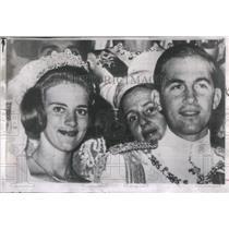 1964 Press Photo King Constantine Queen Anne-Marie Wed- RSA51901