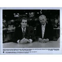 1992 Press Photo Peter Jennings/David Brinkley/Politics - RRX25133